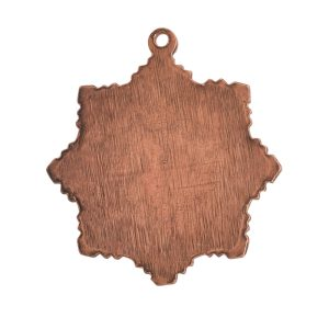 Brass Medallion Small Starburst Single LoopAntique Copper