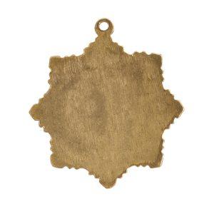 Brass Medallion Small Starburst Single LoopAntique Gold