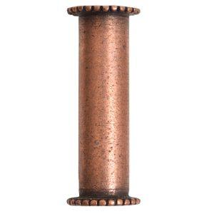 Channel Bead Medium LongAntique Copper