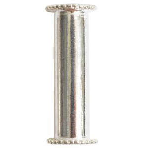 Channel Bead Medium LongSterling Silver Plate
