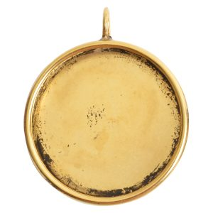 Deep Bezel Pendant Circle GrandeAntique Gold