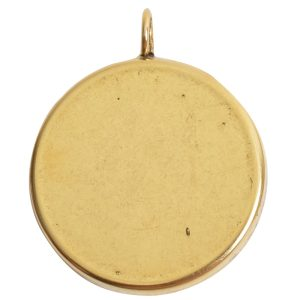 Deep Bezel Pendant Circle GrandeAntique Gold