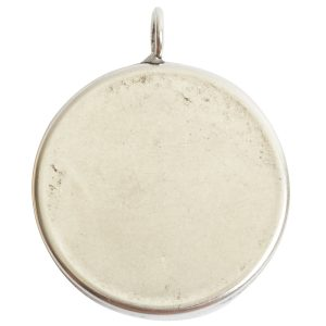 Deep Bezel Pendant Circle GrandeAntique Silver