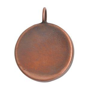 Deep Bezel Pendant Circle LargeAntique Copper
