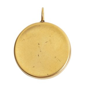 Deep Bezel Pendant Circle LargeAntique Gold