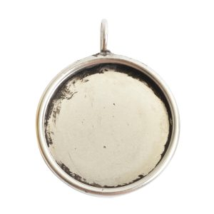 Deep Bezel Pendant Circle LargeAntique Silver
