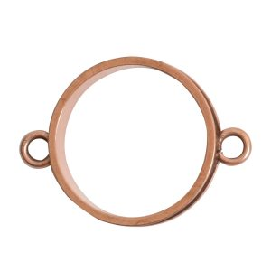Open Bezel Channel Narrow Large Circle Double LoopAntique Copper