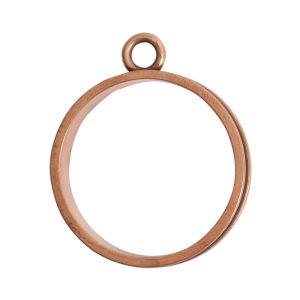 Open Bezel Channel Narrow Large Circle Single LoopAntique Copper