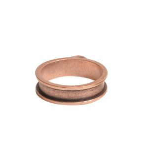 Open Bezel Channel Narrow Small Circle Single LoopAntique Copper