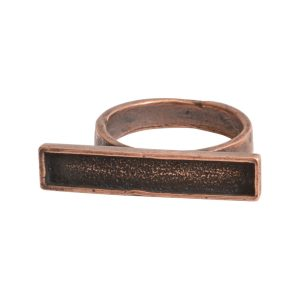 Ring Channel Bar Rectangle Size 6Antique Copper