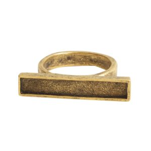 Ring Channel Bar Rectangle Size 6Antique Gold