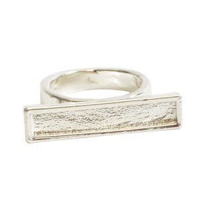 Ring Channel Bar Rectangle Size 6Sterling Silver Plate