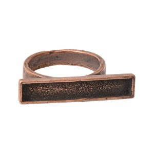 Ring Channel Bar Rectangle Size 7Antique Copper