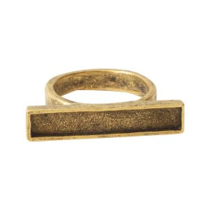Ring Channel Bar Rectangle Size 7Antique Gold