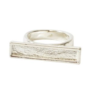 Ring Channel Bar Rectangle Size 7Sterling Silver Plate
