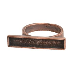 Ring Channel Bar Rectangle Size 8Antique Copper