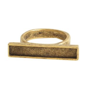 Ring Channel Bar Rectangle Size 8Antique Gold