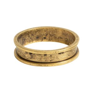 Ring Channel Narrow Size 6Antique Gold