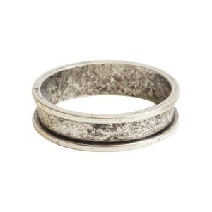 Ring Channel Narrow Size 6Antique Silver