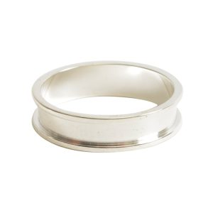 Ring Channel Narrow Size 6Sterling Silver Plate