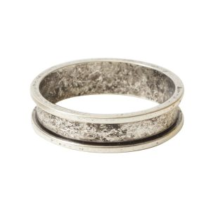 Ring Channel Narrow Size 7Antique Silver