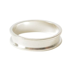 Ring Channel Narrow Size 7Sterling Silver Plate