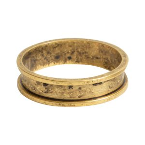 Ring Channel Narrow Size 8Antique Gold