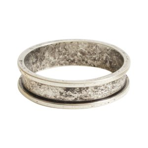 Ring Channel Narrow Size 8Antique Silver