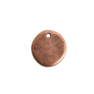Primitive Tag Small Circle Single Hole<br>Antique Copper