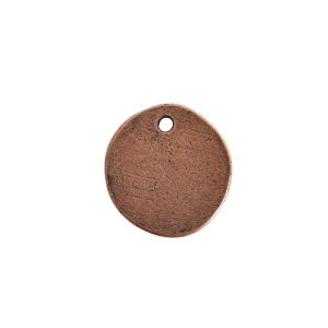 Primitive Tag Small Circle Single HoleAntique Copper