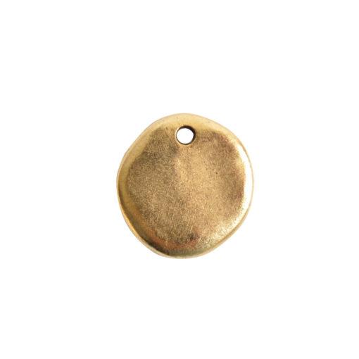 Primitive Tag Small Circle Single HoleAntique Gold