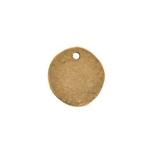 Primitive Tag Small Circle Single Hole<br>Antique Gold
