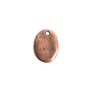 Primitive Tag Small Oval Single Hole<br>Antique Copper