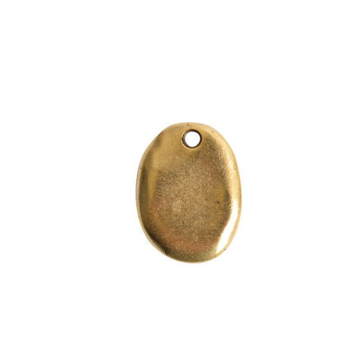 Primitive Tag Small Oval Single Hole<br>Antique Gold 1