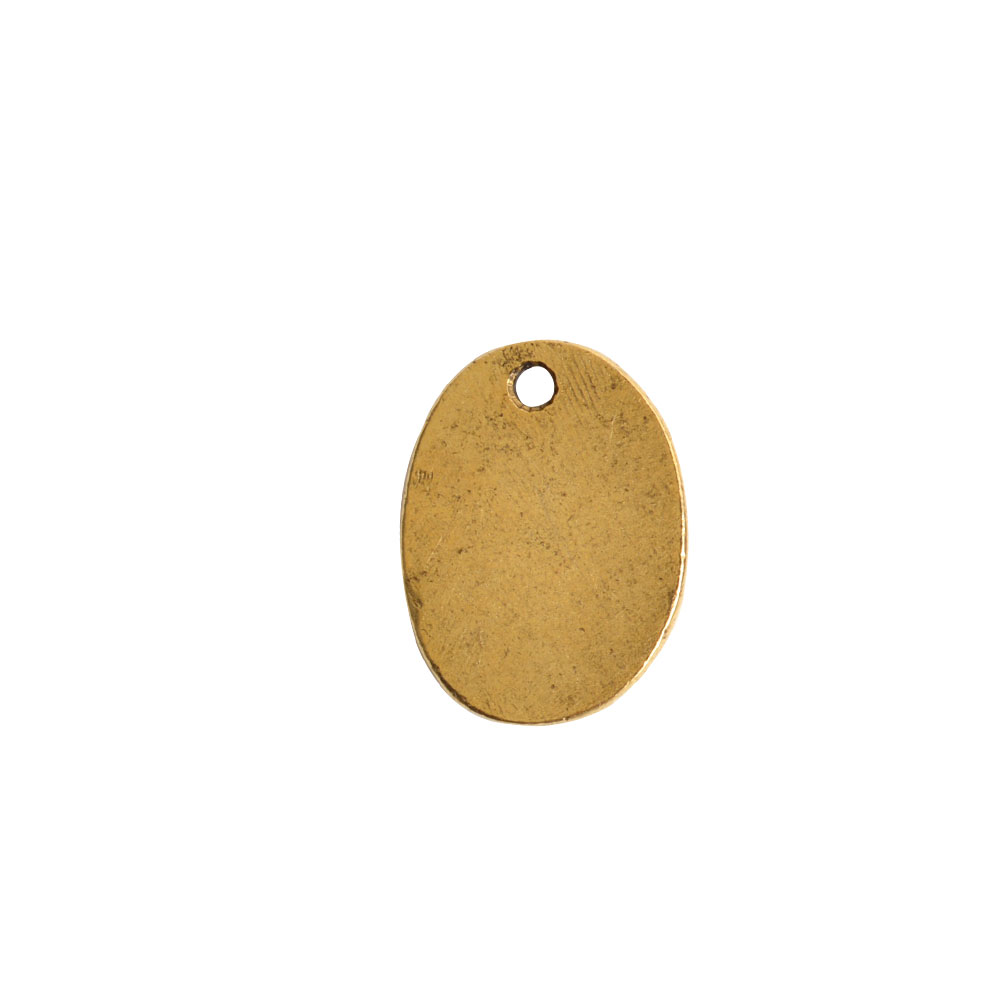 Primitive Tag Small Oval Single HoleAntique Gold