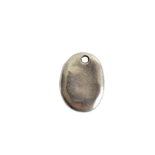 Primitive Tag Small Oval Single Hole<br>Antique Silver 1