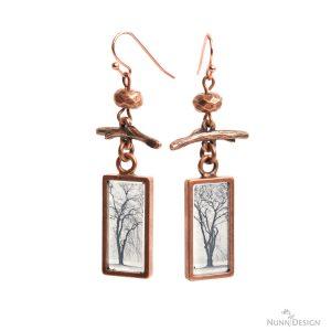 Resin Tree Earrings