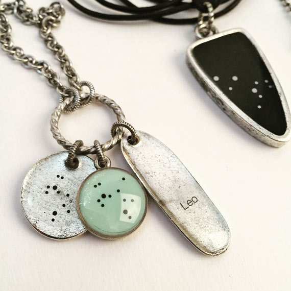 Resin Bezels with Zodiac Constellation