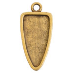 Grande Pendant Arrowhead Single LoopAntique Gold