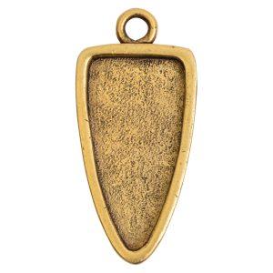 Grande Pendant Arrowhead Single LoopAntique Gold