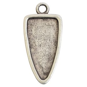 Grande Pendant Arrowhead Single LoopAntique Silver
