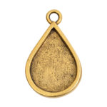 Grande Pendant Drop Single LoopAntique Gold