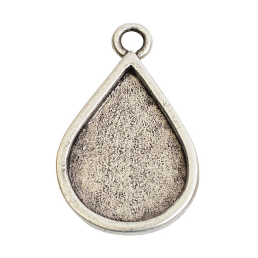 Grande Pendant Drop Single LoopAntique Silver