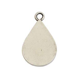 Grande Pendant Drop Single LoopAntique Silver
