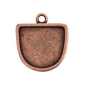 Grande Pendant Half Oval Single LoopAntique Copper