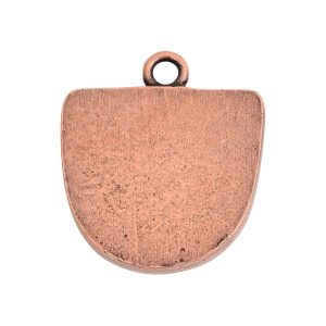 Grande Pendant Half Oval Single LoopAntique Copper