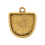 Grande Pendant Half Oval Single LoopAntique Gold