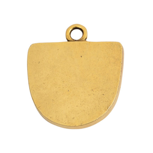 Grande Pendant Half Oval Single LoopAntique Gold