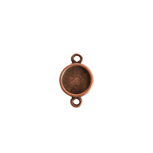 Itsy Link Double Loop CircleAntique Copper