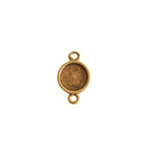 Itsy Link Double Loop CircleAntique Gold